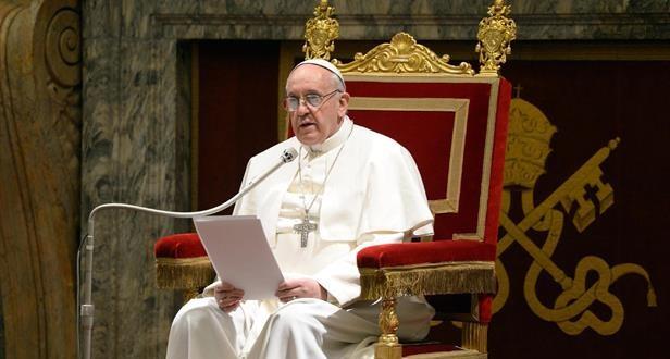 البابا يوجه رسالة فيديو إلى المشاركين في حفل موسيقي في قاعة بولس السادس بالفاتيكان