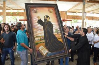 دير كفيفان استقبل ايقونة جديدة للقديس نعمة الله الحرديني