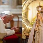 البابا فرنسيس يصلي للعذراء مريم
