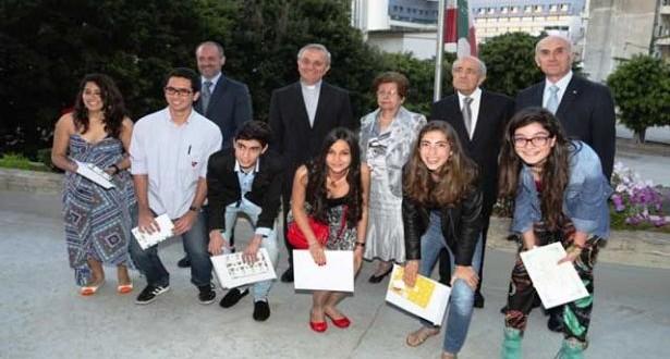 الفائزون في مسابقة المونسنيور إغناطيوس مارون تسلّموا جوائزهم في مدرسة الحكمة الأم