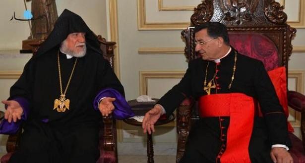 البطريرك الراعي استقبل أمس الكاثوليكوس أرام الأول كشيشيان