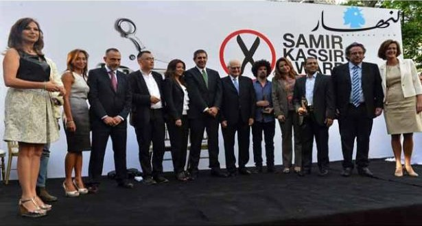 """توزيع جوائز سمير قصير لحرية الصحافة الفائزون عن """"الثورات"""" من مصر وتونس وسوريا"""