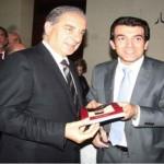 وزير السياحة مع بدوي في احتفال التوقيع