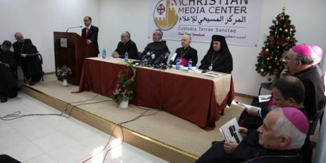 بحضور رؤساء الكنائس في القدس: مؤتمر صحفي يعلن عن رسالة الميلاد 2014
