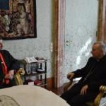 الراعي و أمين سر دولة الفاتيكان الكاردينال بيترو بارولين
