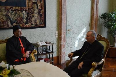 """الراعي التقى في روما أمين سر الفاتيكان ووزير الخارجية واحتفل ب""""إثنين الرماد"""""""