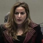 نائبة رئيس مجلس إدارة الجديد كرمى خياط في المحكمة الخاصة بلبنان أمس