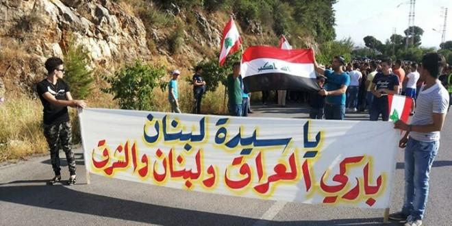 مسيرة دينية للنازحين العراقيين والسوريين الى حريصا في ختام الشهر المريمي