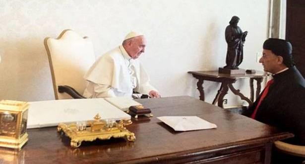 الراعي طلب وساطة البابا لتسهيل الانتخابات الرئاسية وأثار تداعيات حروب المنطقة على المسيحيين