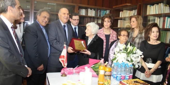 اذاعة لبنان كرمت ليندا مطر فلحة:المرأة فكر بناء يصنع الاجيال ويصنع المستقبل
