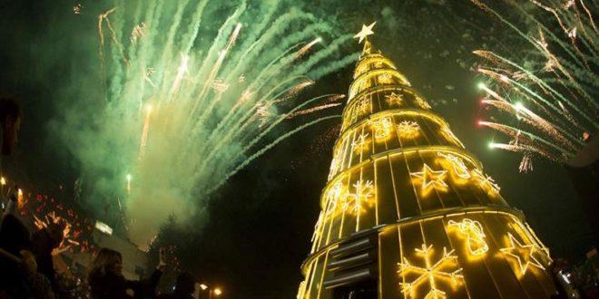 ضهور الشوير أضاءت أضخم شجرة ومغارة ميلاد بحضور بو صعب