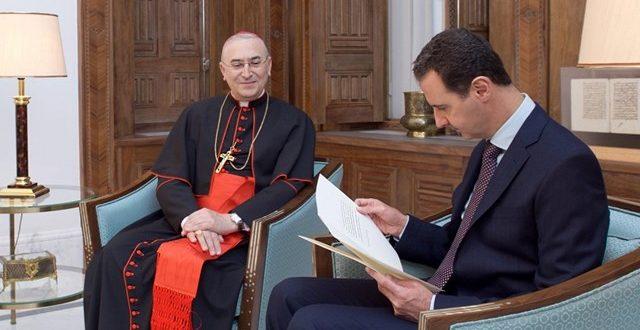 البابا فرنسيس يبعث برسالة إلى الرئيس السوري بشار الأسد