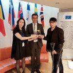 رئيس الرابطة المارونية في بلجيكا تسلم جائزة سفير النوايا الحسنة من حركة الاعاقة العالمية