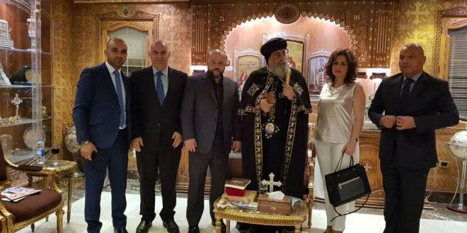 الرياشي التقى السيسي مع وزراء الاعلام العرب وعرض أوضاع المنطقة مع الانبا تواضروس