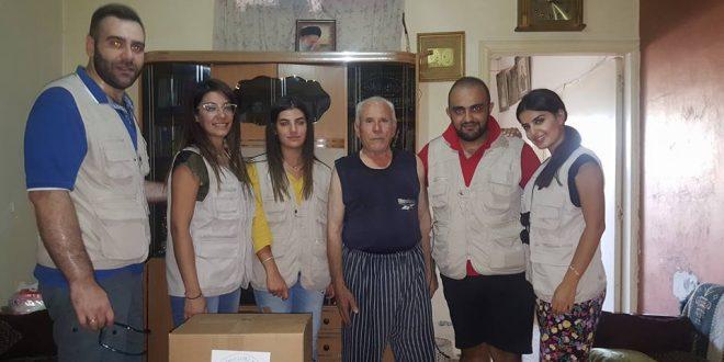 جمعية روح زورن ببيتن وزعت مساعدات على عائلات في الشوف