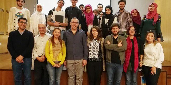 محاضرتان لنقابة مخرجي الصحافة ومصممي الغرافيك في جامعتي AUL وLIU