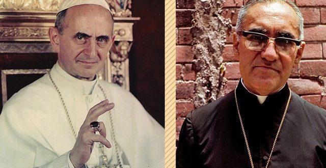 إعلان قداسة البابا بولس السادس والمطران أوسكار روميرو في 14 تشرين الأول 2018