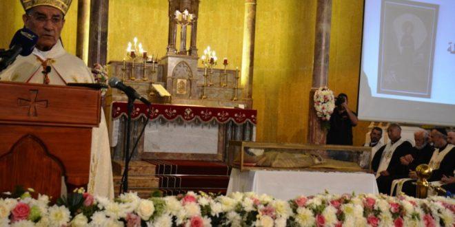 الراعي في إستقبال جثمان القديسة مارينا في الديمان:كرست ذاتها لله وعيش كمال الحياة المسيحية