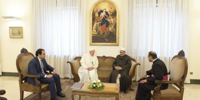 البابا يستقبل فضيلة الإمام الأكبر شيخ جامع الأزهر أحمد الطيب
