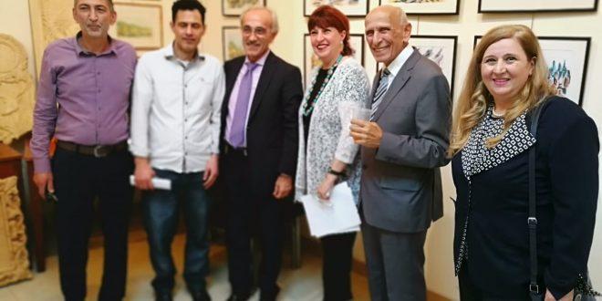 إفتتاح معرض طلاب معهد متى في النادي الثقافي العربي