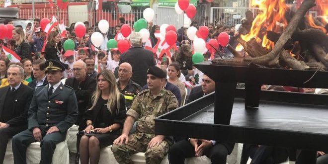 بلدية زغرتا اهدن احتفلت بالتعاون مع قيادة الجيش بوصول شعلة الاستقلال الى السراي