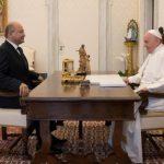 البابا فرنسيس يستقبل الرئيس العراقي السيد برهم صالح