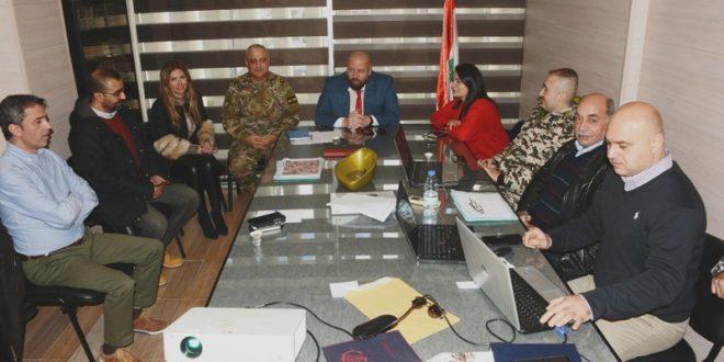 نهرا حض اعضاء لجنة الكوارث على تكثيف الدورات التدريبية للوصول الى الجهوزية القصوى