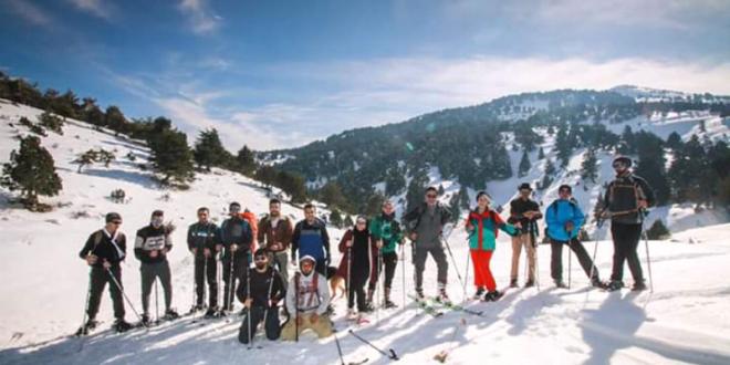 رحلة مشي لدرب عكار على الثلج في اعالي القبيات