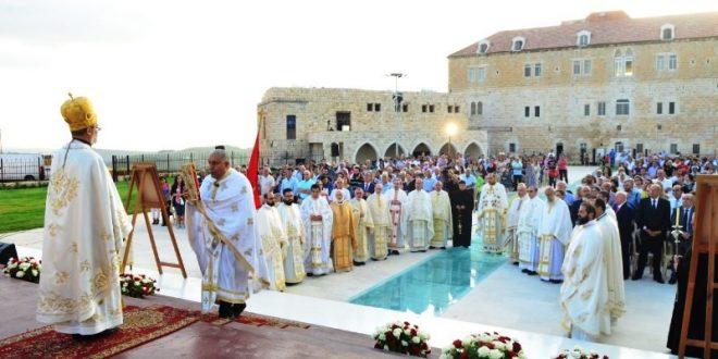 قداس احتفالي في دير المخلص في جون في عيد التجلي