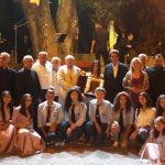 فرقة اولاد مريم احيت امسية موسيقية في باحة كنيسة مار سمعان يحشوش