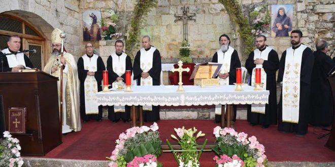 دير مار سمعان العامودي احتفل بعيد قديسه في ايطو