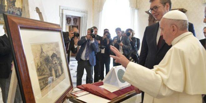 البابا فرنسيس يستقبل رئيس جمهورية صربيا السيد الكسندر فوتشيتش