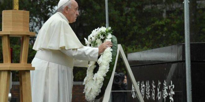 البابا فرنسيس يزور ناغازاكي ويدعو إلى عالم خالٍ من السلاح النووي