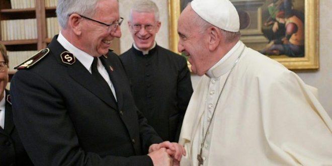 خطاب البابا فرنسيس إلى وفد من جيش الخلاص